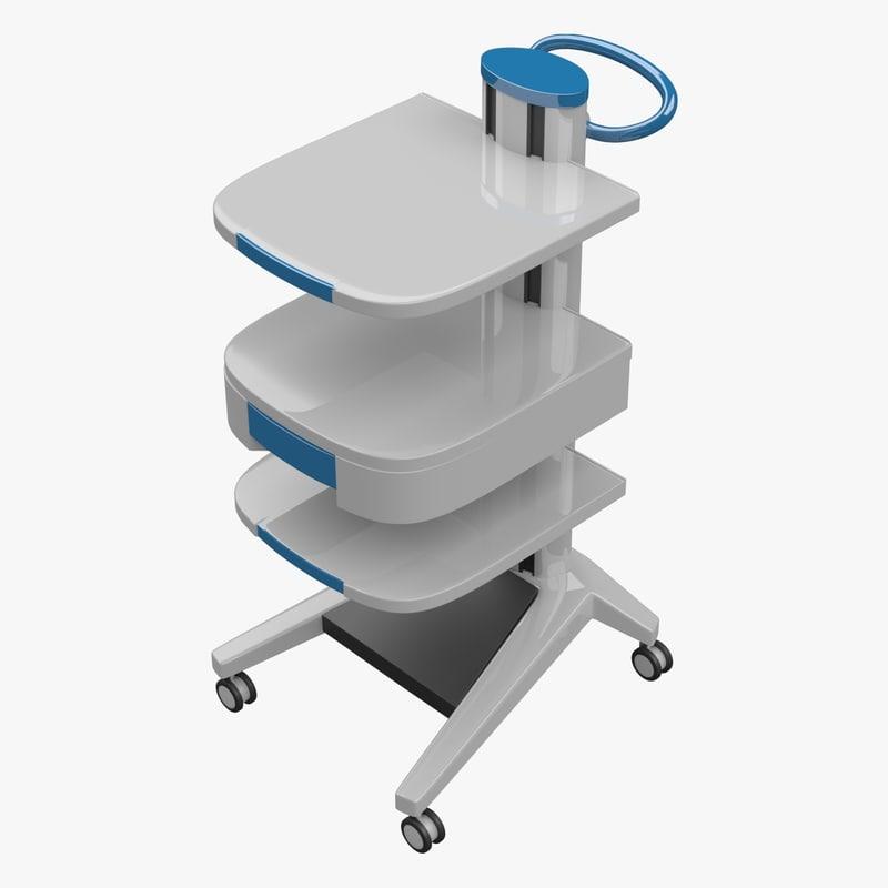 3d model medical equipment trolley