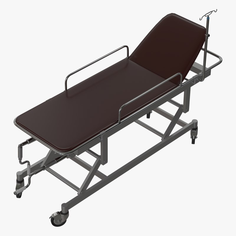 medical equipment trolley 3d model