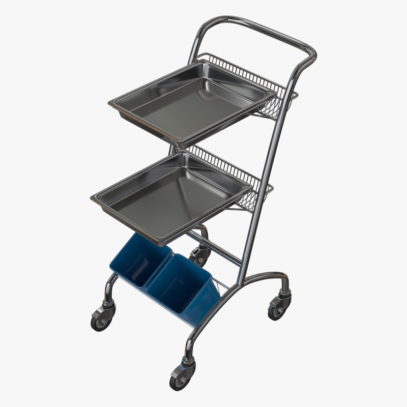 medical equipment trolley 3d model