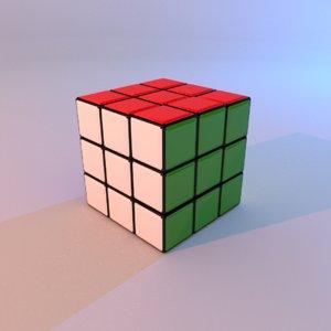 3d model of s cube