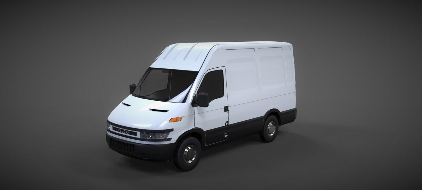 3d model of iveco daily van