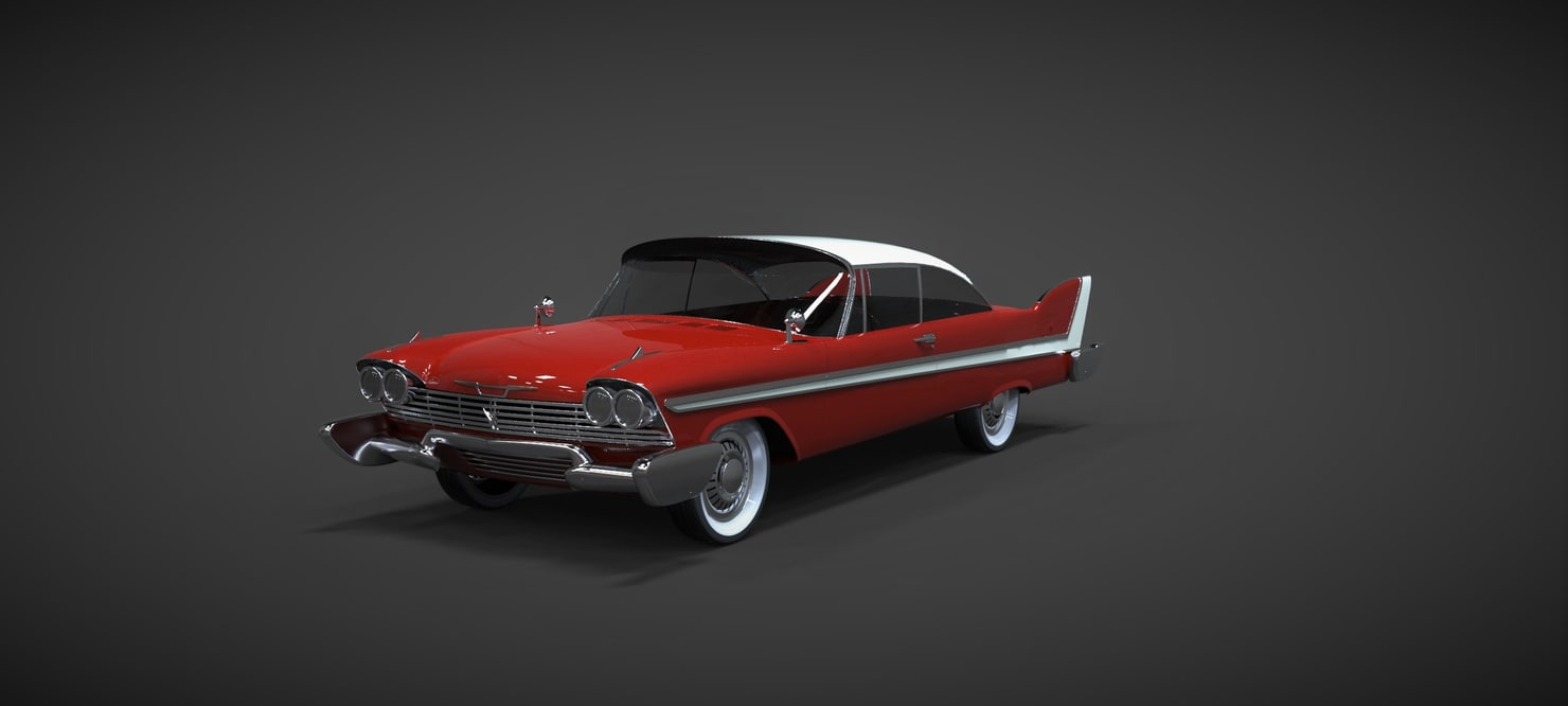 3d plymouth fury sport 1958 model