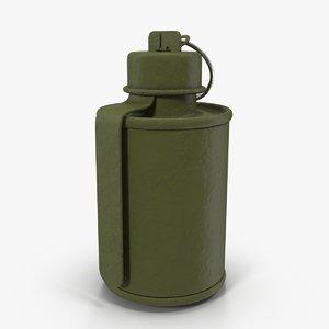 grenade rog-43 3d model