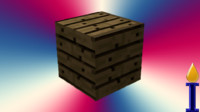 wood planks block 5 3d 3ds