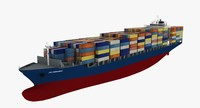 HS Debussy Container Ship Reduced Details
