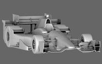 indy car honda 2015 3d obj