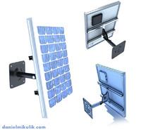 3d wall mount solar panel