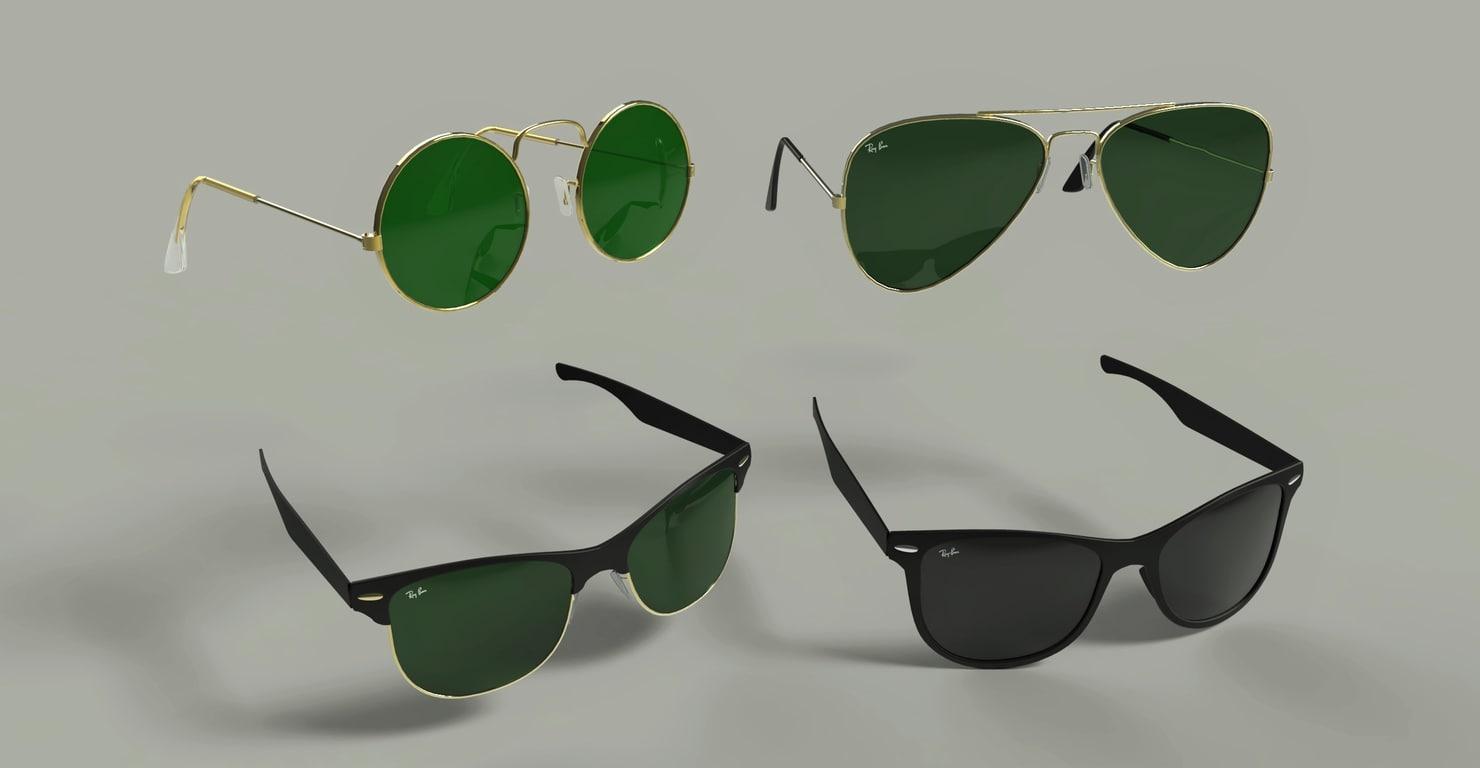 3d model sunglasses glasses sun