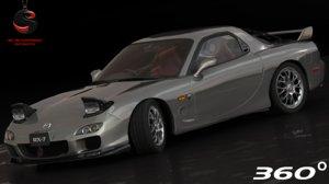 mazda rx-7 type-a 2002 3d obj