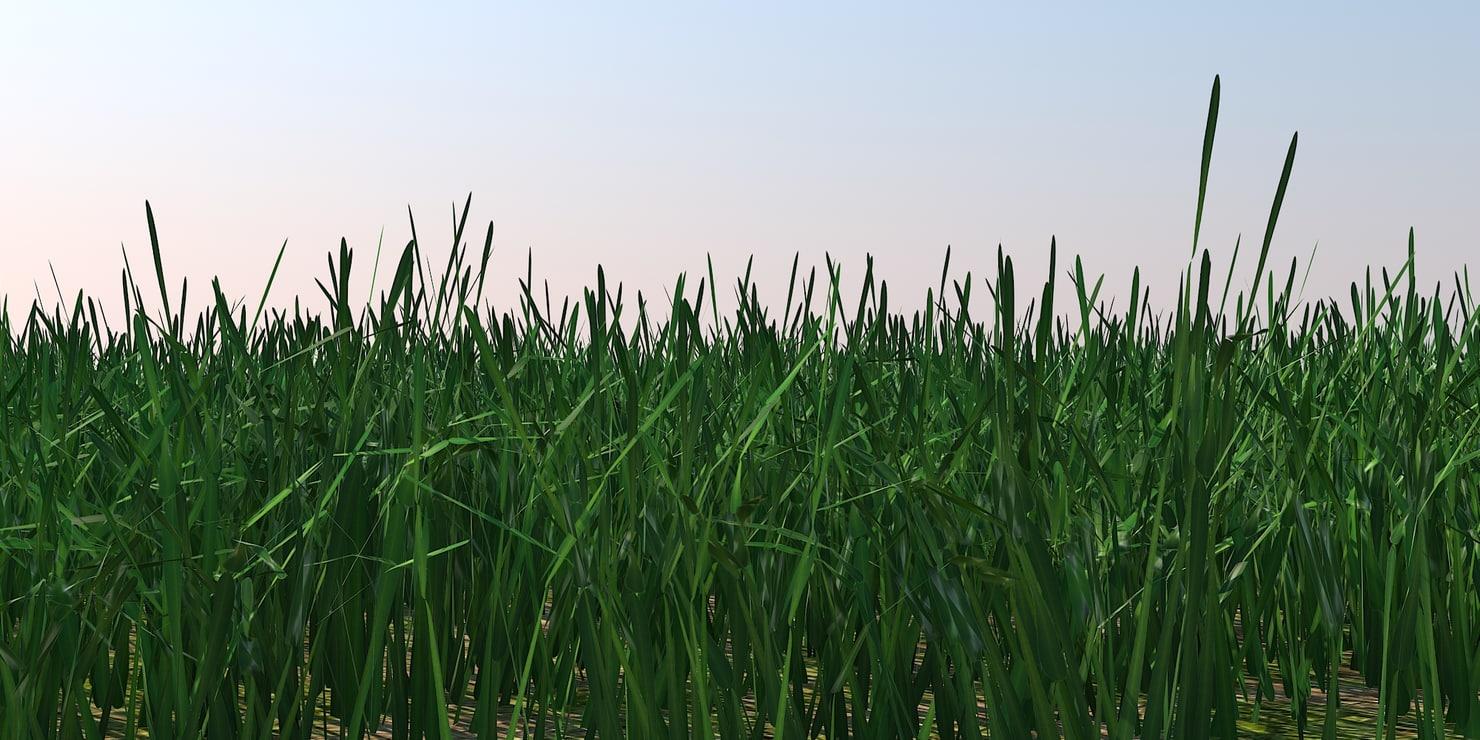 polygonal grass blades 3d obj
