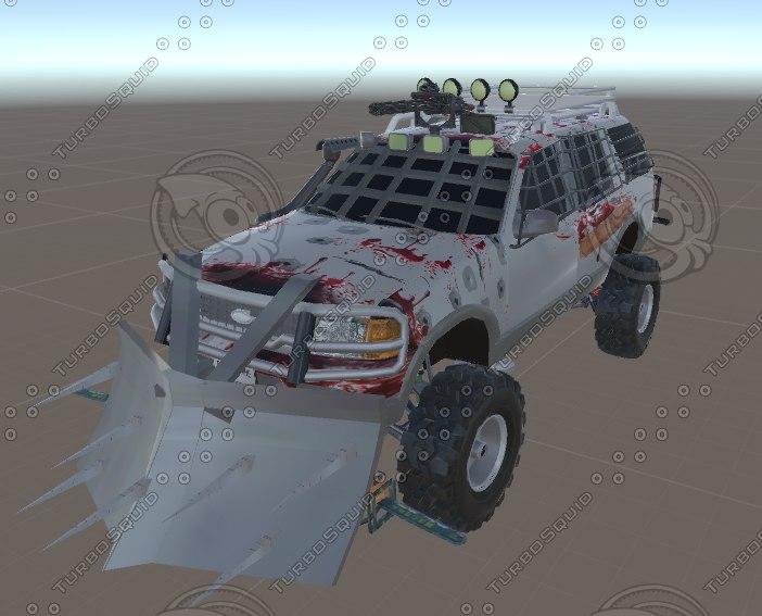 3d van zombies model