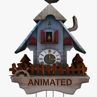 cuckoo clock 3d model