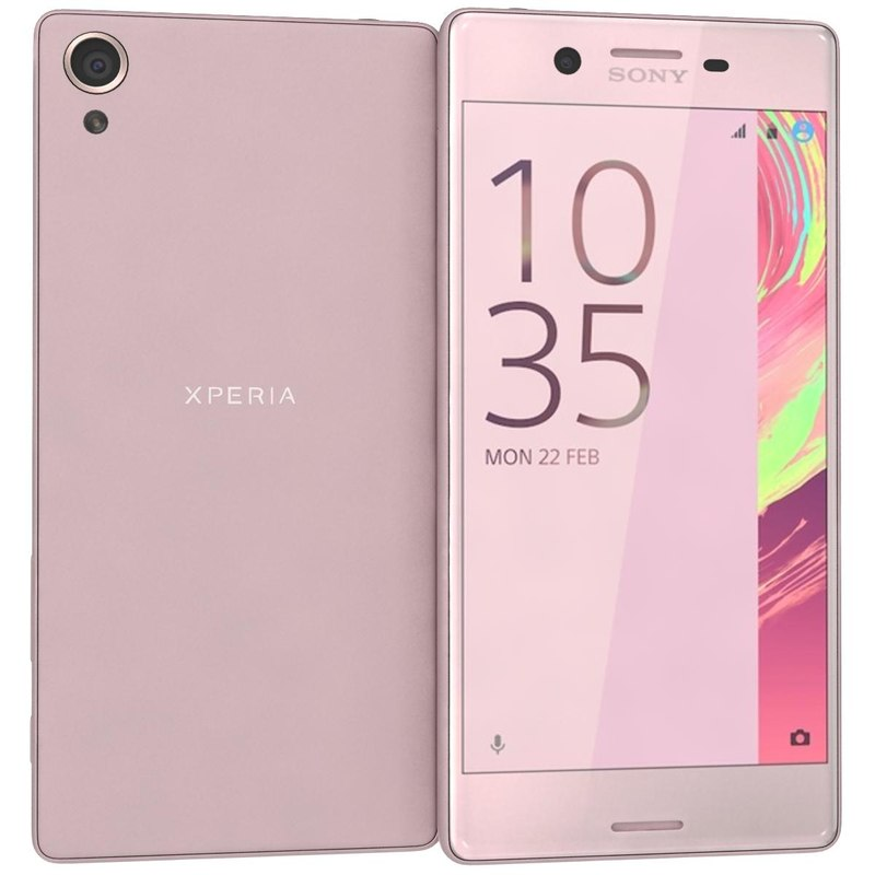 sony xperia x lime 3d model
