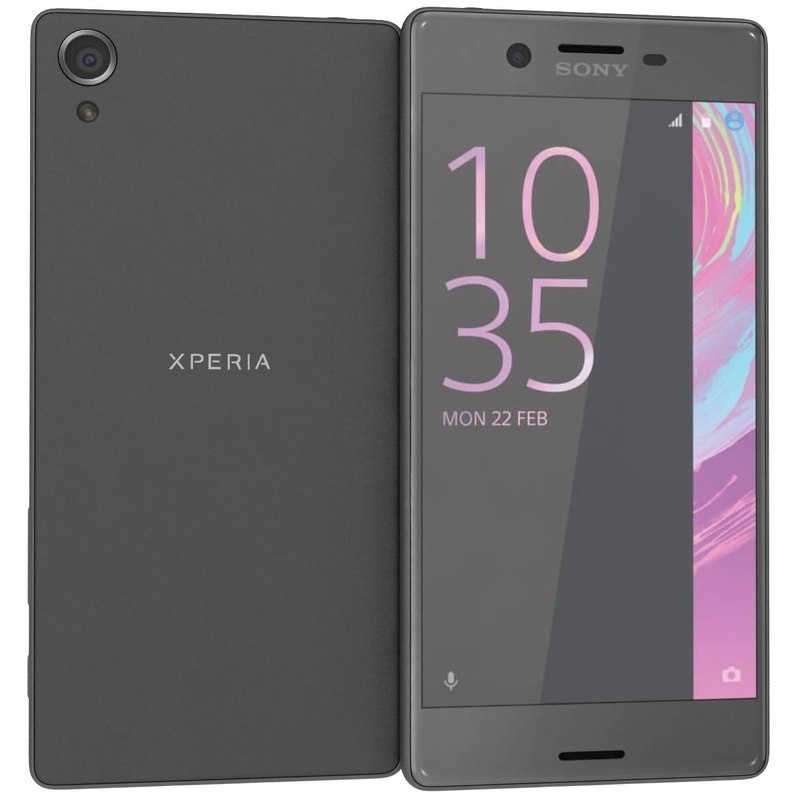 3d model sony xperia x graphite