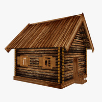 3d model house hut cottage