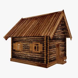 3d model house hut cottage