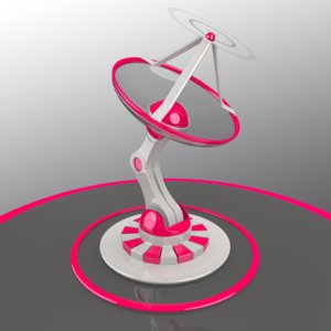 3d model cool animation satellite dish