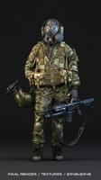 soldier polys 3d model