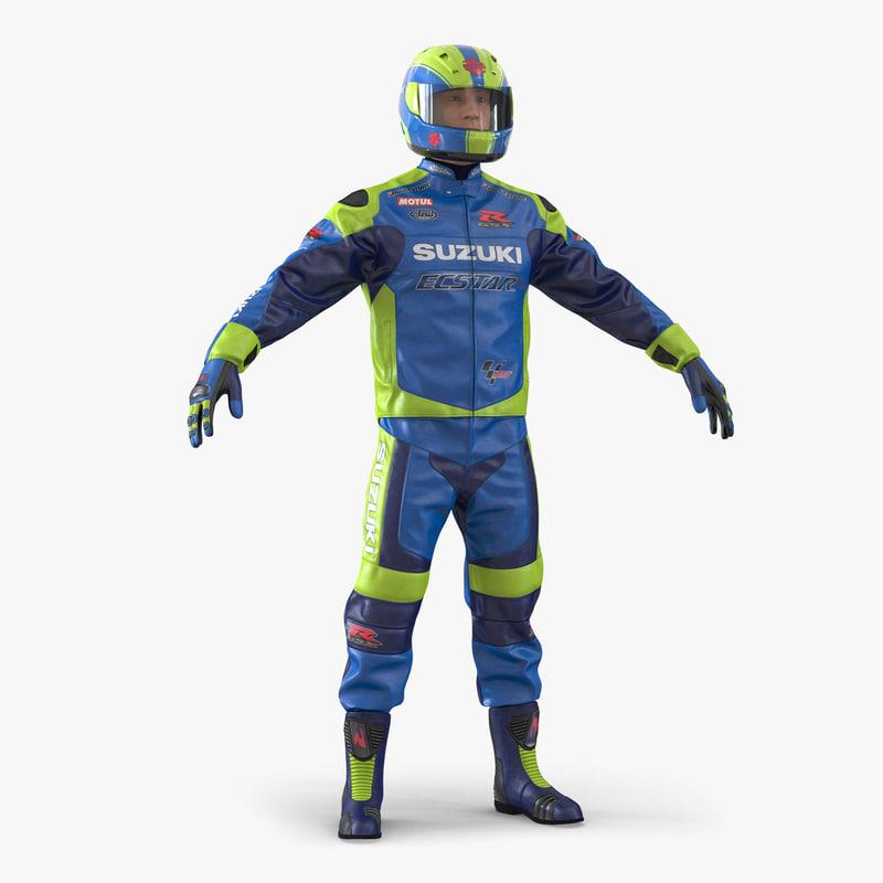 3d motorcycle rider 2 model