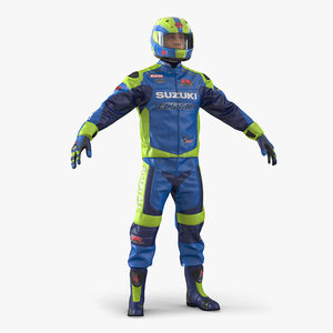 3d motorcycle rider 2 model
