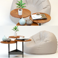 Pouffe & Coffee Table