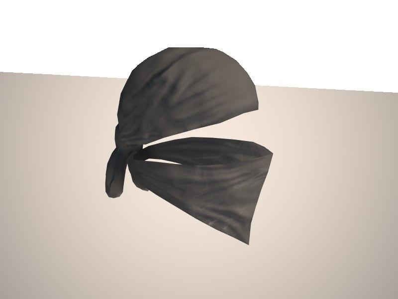 3d model bandana terrorist character mercenary