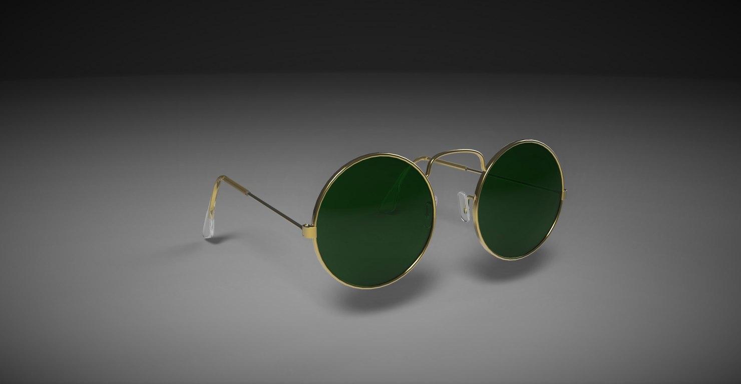sunglasses glasses sun 3d max