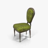 3d model antoinette arm chair green