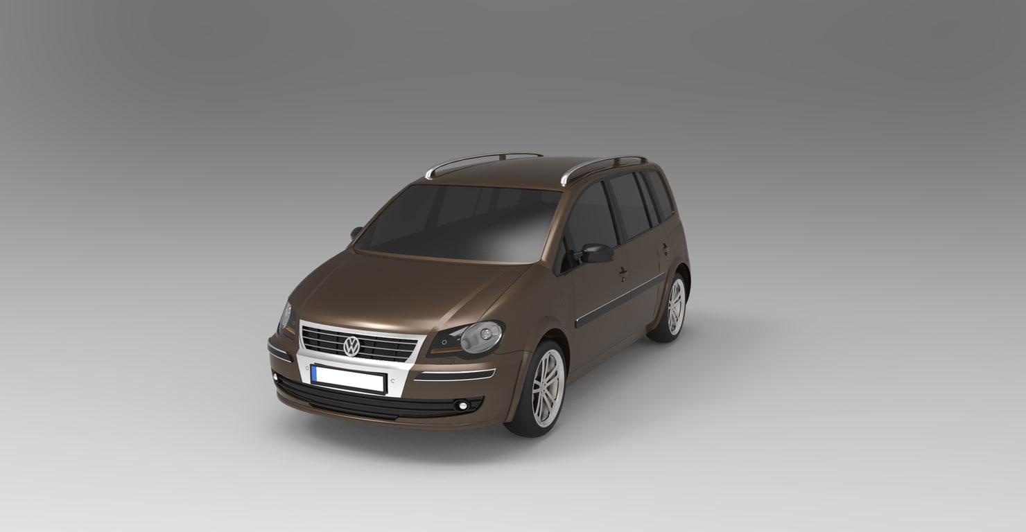 volkswagen touran 2009 3d max. Black Bedroom Furniture Sets. Home Design Ideas