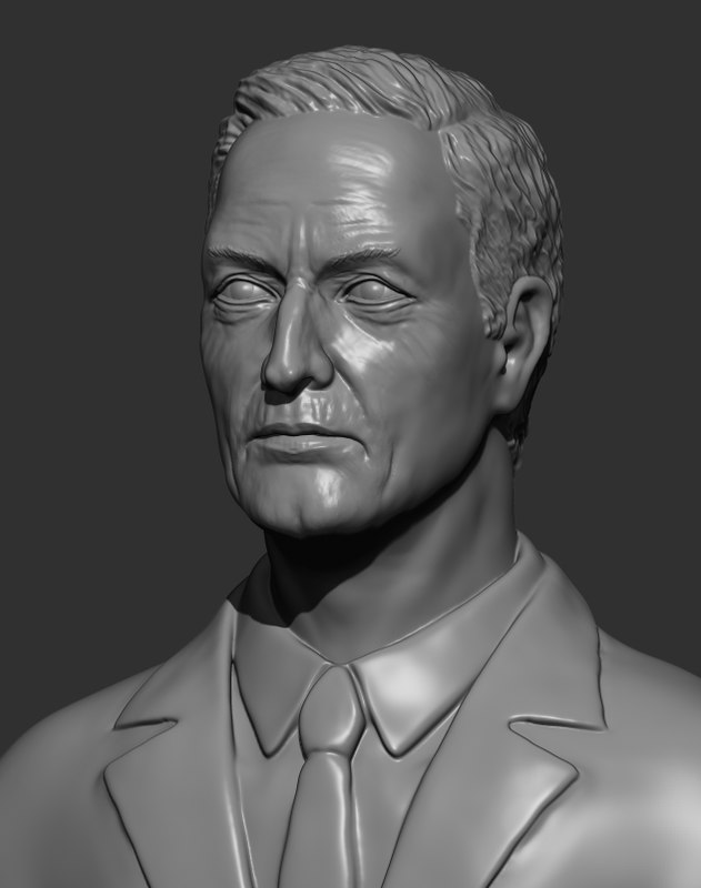 3d model man sculpture