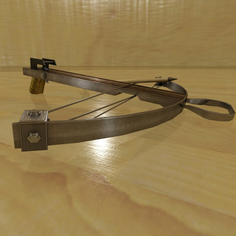 crossbow weapon 3d max