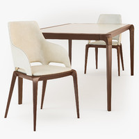 Brio dining table Brio Bridge chair Roche Bobois