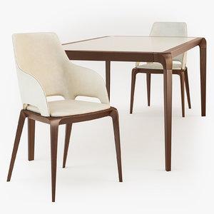3d roche bobois brio dining table model
