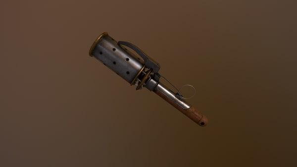 3d obj hand grenade