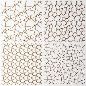 set panel lattice grille obj