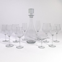 Wine Glass Set with Decanter