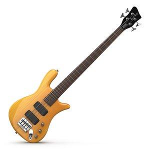 rockbass warwick bass guitar 3d model