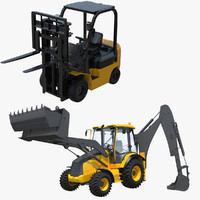 backhoe forklift rigged lift max