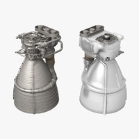 f-1 engine saturn v 3d model