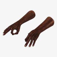old african man hands 3d model