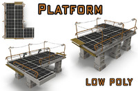 platform sci fi 3d model