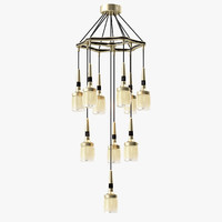 max flagon chandelier lamp light