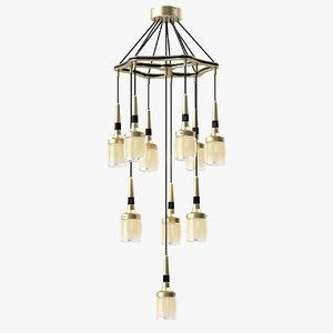 max flagon chandelier lamp light