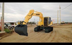 3d model hyundai excavator r140lc-9