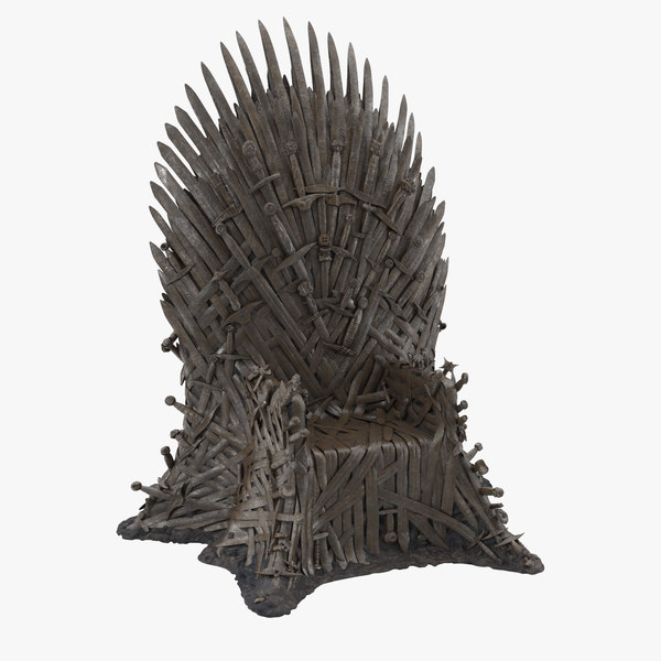 iron throne 3d max