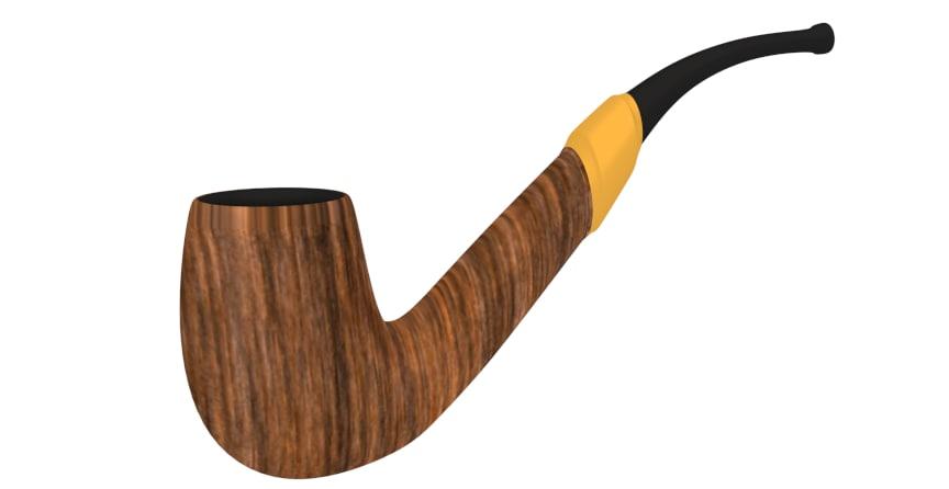 smoking pipe 3d blend