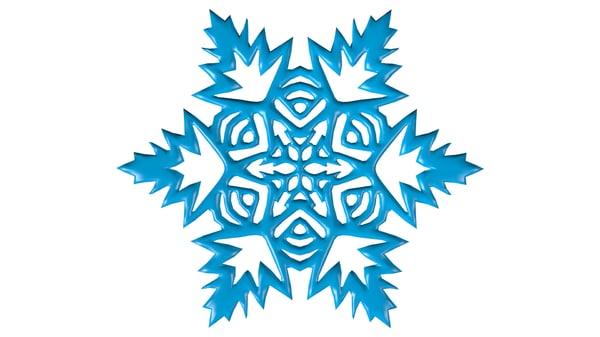snowflake snow flake 3ds