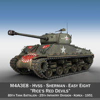 c4d m4a3e8 sherman - red