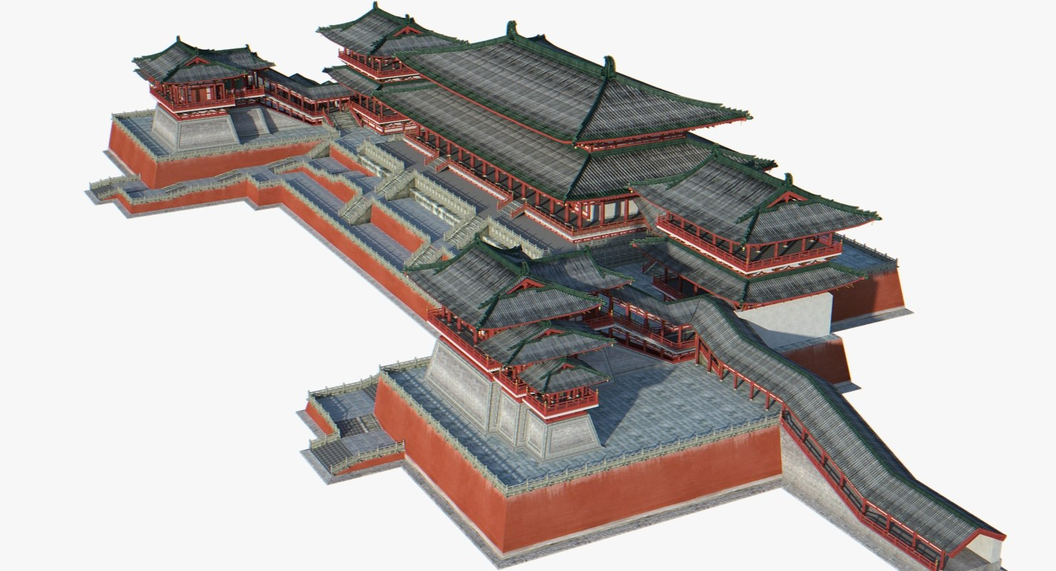 chinese palace 3d model