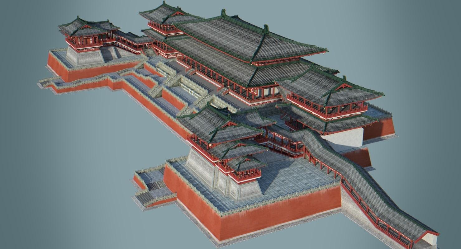 Asian palace model